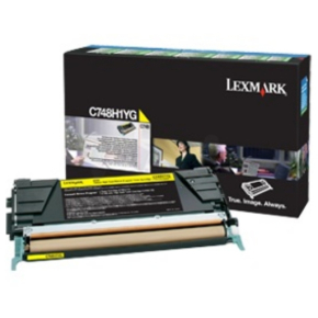 Lexmark C748H3YG lasertoner, gul, 10000s