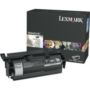 Lexmark T654X31E lasertoner, sort, 36000s
