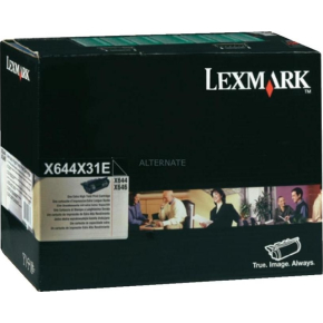 Lexmark X644X31E lasertoner, sort, 32000s