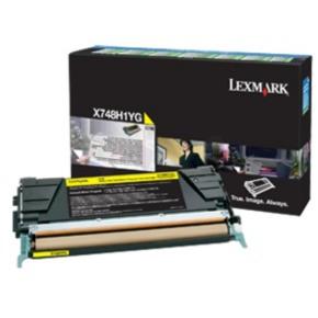 Lexmark X748H3YG lasertoner,  gul, 10000s