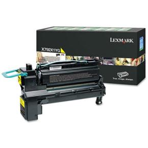 Lexmark X792X1YG HC lasertoner, gul, 20000s