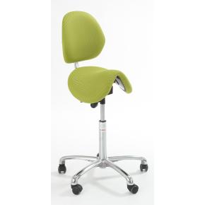 CL Dalton sadelstol m/ ryglæn, grøn, stof