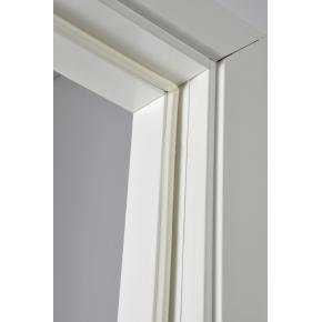 Selvklæbende tætningssliste, D-form, hvid, 6 m