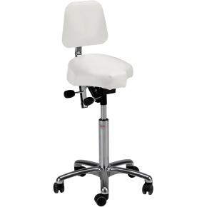 CL Gamma sadelstol m/ ryglæn, hvid, kunstlæder