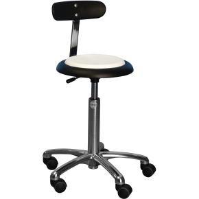 CL Micro stol m/ ryglæn, sort, stof, 47-66 cm