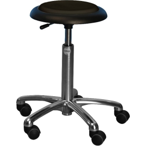 CL Micro stol, sort, kunstlæder, 47-66 cm
