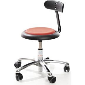 CL Micro stol m/ ryglæn, rød, kunstlæder - køb til fast lav pris ...