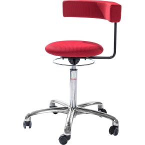 CL Saturn stol, rød, stof, 49-69 cm