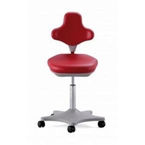 CL Lab stol, rød, kunstlæder, 45-65 cm