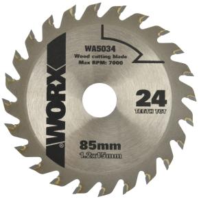 Worx rundsavsklinge, 85 mm, 24t