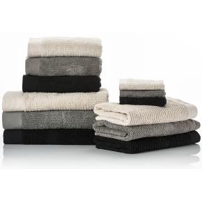 Zone Confetti håndklæde 50x100cm, grå