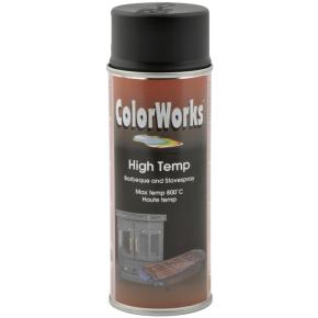 ColorWorks hobbyspray, varmebestandig sort