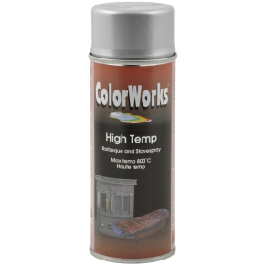ColorWorks hobbyspray, varmebestandig sølv