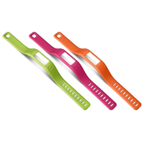 Garmin Vivofit armbånd, small, orange/pink/grøn