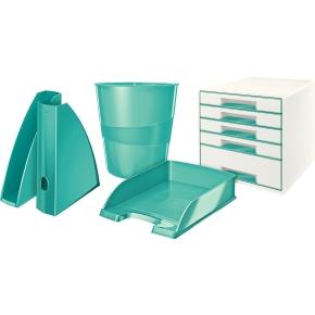 Leitz WOW brevbakke, isblå metallic