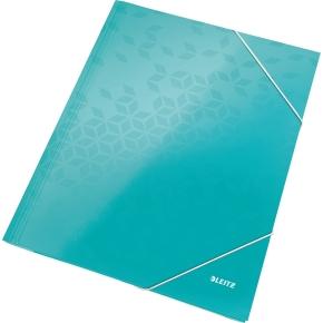 Leitz WOW elastikmappe, isblå