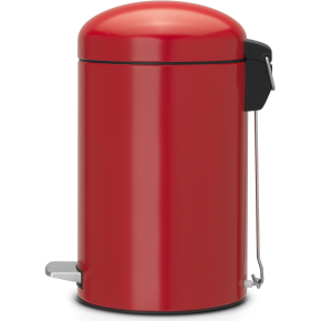 Brabantia Retro Pedalspand 12 liter, passion red
