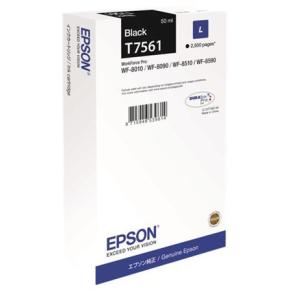 Epson C13T756140 large blækpatron, sort, 2500 s.