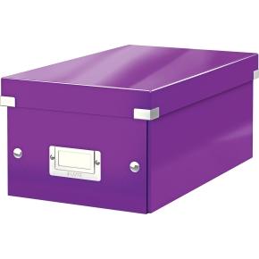 Leitz WOW Click & Store DVD-boks, lilla