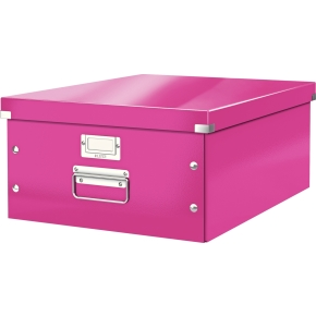 Leitz Click & Store opbevaringsboks large, pink