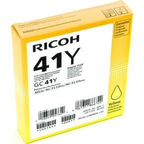 Ricoh 41Y/405764 blækpatron, gul, 2200 s.