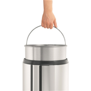 Brabantia Flameguard Affaldsspand, 30L, blank stål