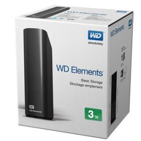 """WD Ekstern Harddisk 3TB, 3,5"""", USB 3.0"""