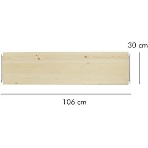 ABC hylde LxD: 106x30 cm, natur