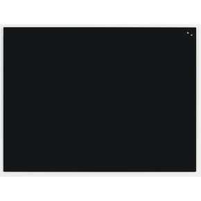 Glassboard magnetisk glastavle 90x120 cm, sort