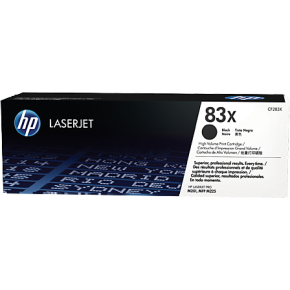 HP 83X/CF283X Lasertoner, sort, 2200 s.