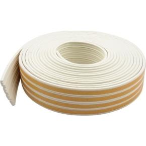 Selvklæbende tætningssliste, E-form, hvid, 6 m