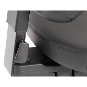 RBM 839 i sort læder inkl. armlæn og nakkestøtte