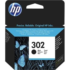 HP nr. 302 blækpatron, sort, blister, 190s.