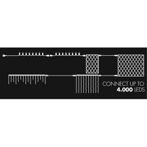 Tech-Line Halvmåne, 2,5 x 1,2 m, 100 LED