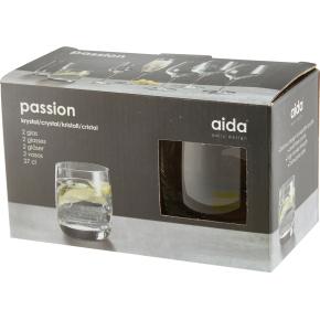 Aida Passion Krystal Lille drikkeglas, 2 stk.