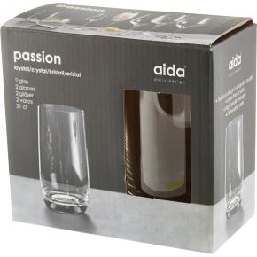 Aida Passion Krystal Stort drikkeglas, 2 stk.