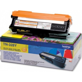 Brother TN328Y lasertoner, gul, 6000s