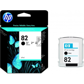 HP nr.82/CH565A blækpatron, sort, 69 ml