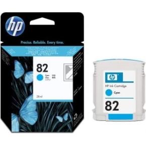 HP nr.82/CH566A blækpatron, blå, 28 ml