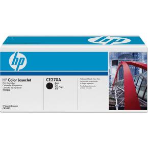 HP CE270A lasertoner, sort, 13500s
