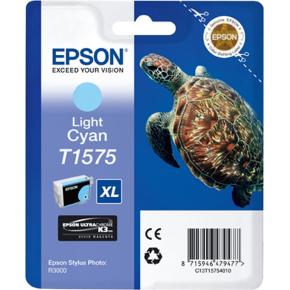 Epson nr.T1575/C13T15754010 blækpatron, lys blå
