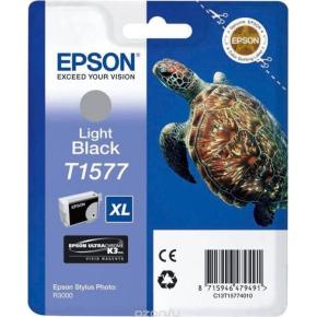 Epson nr.T1577/C13T15774010 blækpatron, lys sort