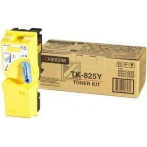 Kyocera TK-825Y lasertoner, gul, 4000s