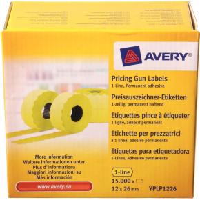 Prisetiketter til prismærkningsmaskine Single, gul