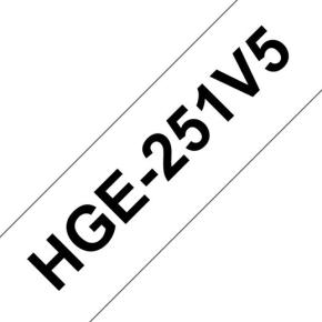 Brother HGe251V5 labeltape 24mm, sort på hvid
