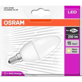 Osram LED Kertepære E14, 4W=25W