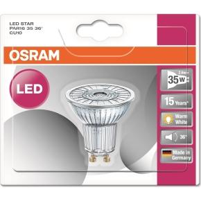 Osram LED Spotpære GU10, 2,6W=35W, 36g