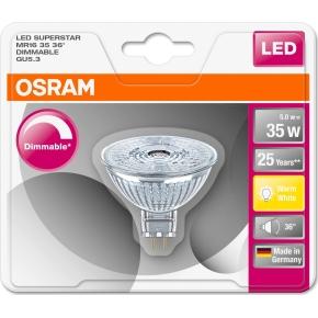 Osram LED Spotpære GU5,3, 5W=35W, dæmpbar