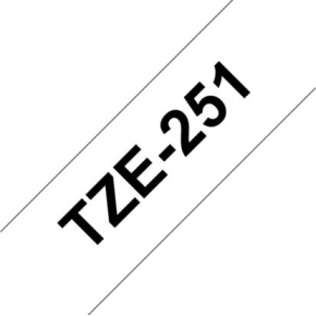 Brother TZe-251 labeltape 24mm, sort på hvid