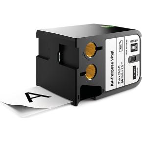 Dymo XTL, vinyltape, 54 mm, sort på hvid